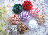 Wholesale 3cm Satin Rose flowers accessories hair accessories gift accesories wedding accesories colors FR01