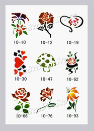 Wholesale Temporary Airbrush Tattoo Stencil book Template reuseable Booklet designs