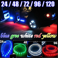 Wholesale HOT NEW PVC Waterproof LED NEON UNDER Car Light Red Blue White Green Yellow