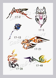 Wholesale Temporary Airbrush Tattoo Stencils book Template Booklet designs Reuseable