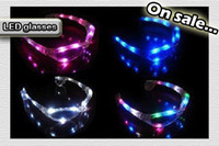 Wholesale Christmas gift Fancy Ball Halloween LED flash glasses fasion decoration for party