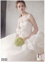 bias cut - 2012 Celebrity Design Taffeta Empire Waist Gown with Bias Cut Banded Bodice Style Wedding Dresses