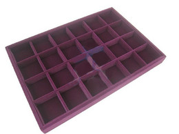 Purple 24 Compartments Jewelry Supplies Display Case   Jewellery Boxes 1PC