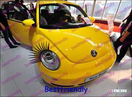 1000PCS=500Pairs Automotive Eyelashes Car Eye Lashes Eyelash 3D Car Logo Sticker Eyelash Eye-lashes