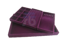 Wholesale Purple Velvet Jewelry Display Case w Compartment Tray Displays set color options