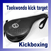 Wholesale PU Leather Taekwondo Karate Kwon Kickboxing Kick Double Face Pad Foot Practice Target