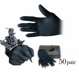 Dhgate VIP Seller Brand new 50 pcs of disposable black tattoo gloves