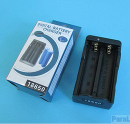 10Pcs Lot Dual AC 18650 Battery Rechargable Charger Double Type Charger + Fast Shipping