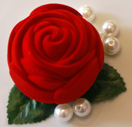 Wholesale Wedding candy boxes Rose velvet candy box gift box jewlery box wedding favors favor holders CY01