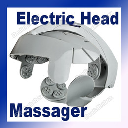 Wholesale Electric Head Massager Brain Massage Relax Easy Acupuncture Points Gray