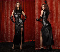 Wholesale Women Ladies Lingerie Faux Leather Long Black Dress Gloves