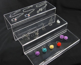 WHOLESALE Clear Acrylic 3 Layer Jewellery Riser Display Stand
