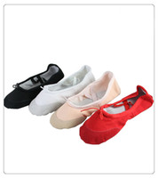 Wholesale Small head of leather shoes children dance ballet Aerobic shoes canvas Aerobic shoes gym shoes