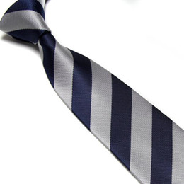 striped ties Men's tie necktie retail sale neckcloth silver+navy neck ties students' ties shirt tie