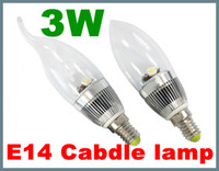 Wholesale 3W E14 High Power LED Candle Light Bulb Lamp for Ceiling chandelier Fan New