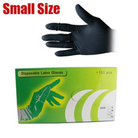 Wholesale Black Disposable Tattoo Latex Gloves Size S TC106