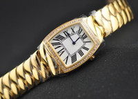Wholesale New Fashion La Dona k Yellow Gold Diamond Womens Quartz Watches luxury lady Wrist Watch White Dial
