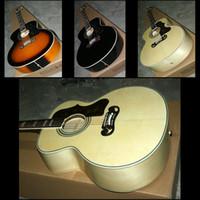 vintage black guitar - HOT New arrival Strings J200 Acoustic guitar Vintage black Natural