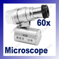 Wholesale Mini X Microscope Loupe LED Magnifier Currency Detecting Hot Sale