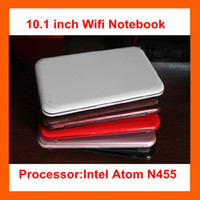 Wholesale Freeshipping quot wifi laptop Intel Atom N455 Wondows notebook GB GB WITH COLORS by DHL