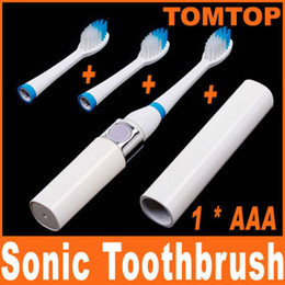 Wholesale Portable Pocket sized Healthy White Electric Sonic Vibration Toothbrush with Rechargeable head H4906