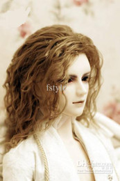 Wholesale Wholesales BJD wig MJ long wave wig inch inch inch Brown color