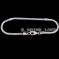 Wholesale 5Pcs New Silver Plate Heart Lobster Clasp Bracelet Fit European Bead br lc11 cm cm