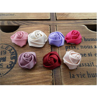 Wholesale 2cm Satin Rose Flowers Accessories Hair Accessories Gift Accesories Wedding Accesories Colors R07
