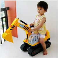 Wholesale Children s Christmas toy car toy car ride Keji excavator excavator construction machine hook
