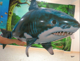 Wholesale Big promotion Air Swimmers Flying Shark InflatableToy New Animal Planet Blimp RC toy