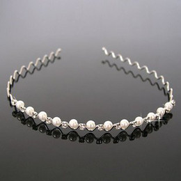 New Arrival Fashion Jewellery 5 Pcs bridal Pearl headband with crystal tiaras wedding