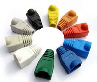 Wholesale 8P8C Modular Plug Boots Soft Cover Case For RJ45 Crystals Head Many Colors Network PVC Jacket