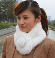 Wholesale Christmas Promotion Korea Fashion faux rabbit fur scarf scarves Autumn and winter rabbit scarves