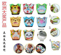 baby bids - 2012 Melee Brand New Sleeveless Baby Bibs Kids Bid Waterproof Bib Zoo Smile Bibs Feeding Cartoon Bid