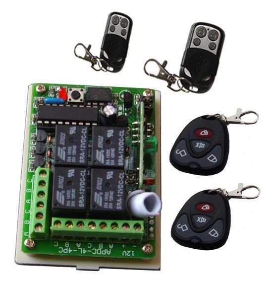 2017 12v wireless remote control 4ch wireless module for 12v garage door remote