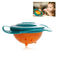 Wholesale Amusing Rotary Gyro Style Mess free Feeding Bowl with Grip and Lid