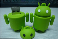 Wholesale Android Robot High Speed Full Capacity USB FLASH DRIVE GB GB mobile Phone Strap Chains U DISK