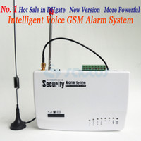 GSM  Alarm gsm alarm - No HOT SALE GSM HOME BURGLAR ALARM SYSTEM New Version More Powerful Double Antenna Voice Prompt sg