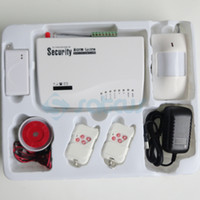 Wholesale Popular HOT SALE GSM HOME BURGLAR ALARM SYSTEM New Version More Powerful Double Antenna Voice Prompt sg