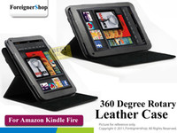 Wholesale 20 For Amazon Kindle Fire Degree Rotary Leather Carry Case Cover Skin Wallet book flip