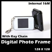 Wholesale 50 quot inch Digital USB KEY Chain Photo Picture Frame Silver Color for christmas promotion