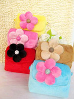 Wholesale Hot item Christmas gift Children Bag Flannelette bag Flower Pattern per