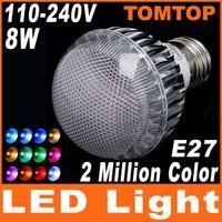 2 Milioni Colore 8W 100-240V led RGB lampadine di E27 LED Flash, Luce di Lampadina con Telecomando H4530