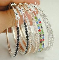 Wholesale 60mm Basketball Wives Big Hoop Earring Mixed Colors Fashion Jewelry