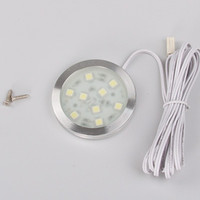 Wholesale Free shipment LED Cabinet Spot Light of SMD5050 DC12v lm w Round Thin Furniture Downlight