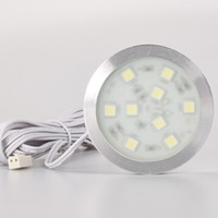 1.8w puck led light - Free Shipment Round Led Puck cabinet light of SMD5050 w Slim Rigid Strip White Warm White