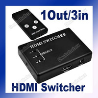 Switcher & Remote control 65g 8.0 x 5.8 x 1.8 cm 3 Port HDMI Switch Switch Splitter 1080P For PS3 DVD HDTV +IR Remote control #851