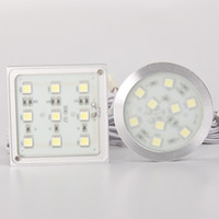 12v aluminum accents - Free Shipment LED Accent Light Slim Type Square leds SMD5050 w VDC Aluminum Thin Down Lighting