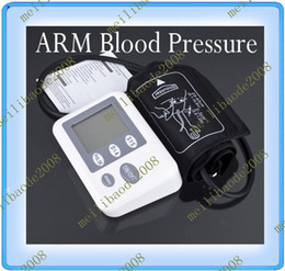 Wholesale 2pcs B56 Best Automatic Digital ARM Blood Pressure amp Heart Rate Monitor Tester Home Machine