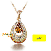 Wholesale New gold Austrian crystal necklace high quality Simulated diamond Jewellry necklace chain